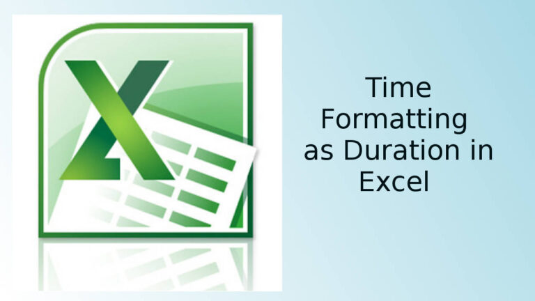 Duration Formatting in Excel
