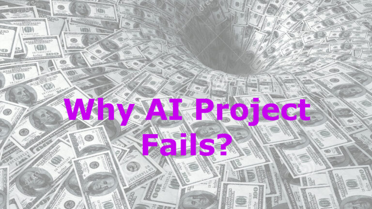 20 Reasons Why AI Project Fails